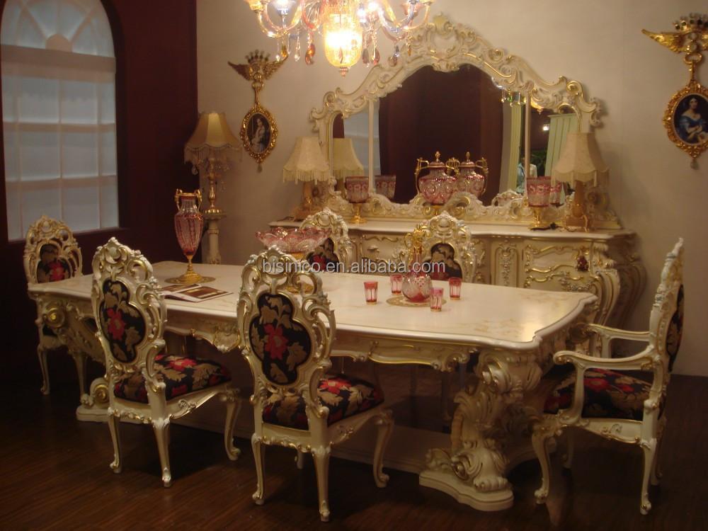 Bisini lujo estilo europeo juego de comedor muebles de for Muebles modernos estilo europeo