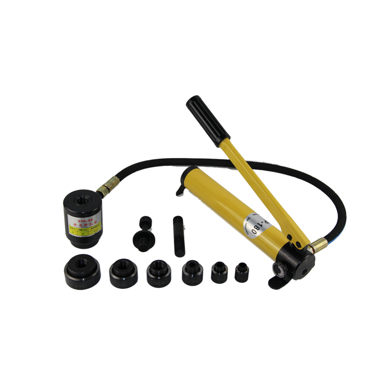 SYK-8A high quality electric hydraulic <strong>hole</strong> puncher mini portable electric <strong>hole</strong> machine electric hydraulic puncher