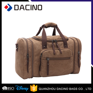 China supplier camel canvas duffel bags traveling bag sport duffle luggage bag