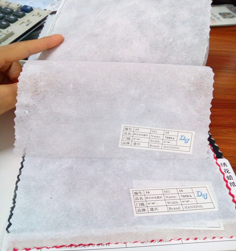 Cotton embroidery backing paper nonwoven embroidery fusing interlining