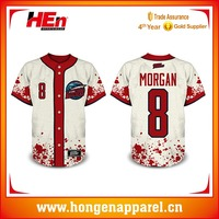 Hongen apparel fully sublimation Authentic baseball uniforms practice baseball jersey