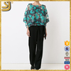 New Arrival fashion lace blouse designs, floral collar matching color women shirt