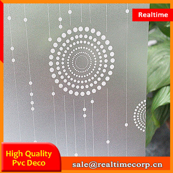 self adhesive frosted pvc decorative window film for sale