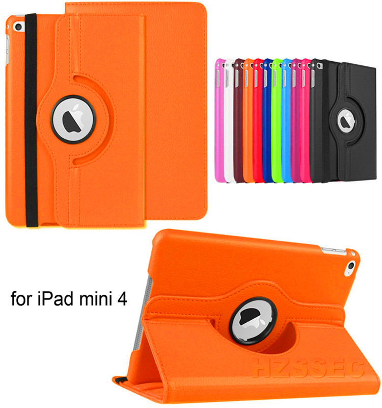 360 Degree Rotating Custom Design Case For Ipad Mini4 Tough Protective Shatterproof Cover