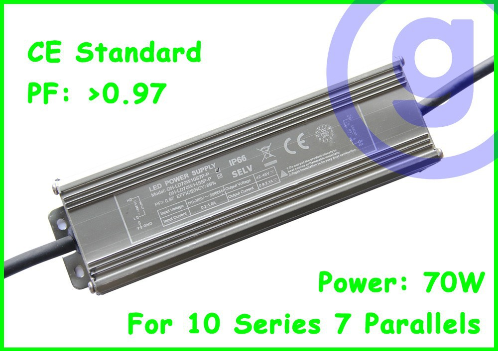 CE standard Waterproof LED driver 70W 2.1A
