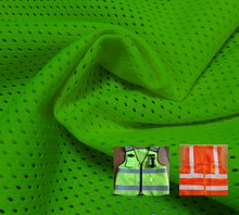 100% polyester dry fit fabric/moisture wicking fabric mesh fabric for safety vest