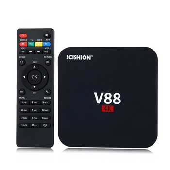 2016 new hot Firmware update v88 android smart tv box v88 4k tv box
