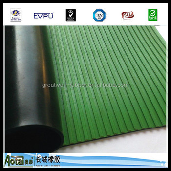 GREAT WALL RUBBER manufacture 5kv-50kv Composite ribbed insulation rubber sheet through EU certification