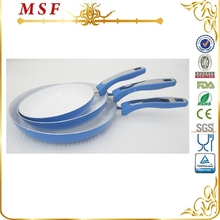 MSF ceramic coating interior induction bottom eco friendly industrial non electric frying pan