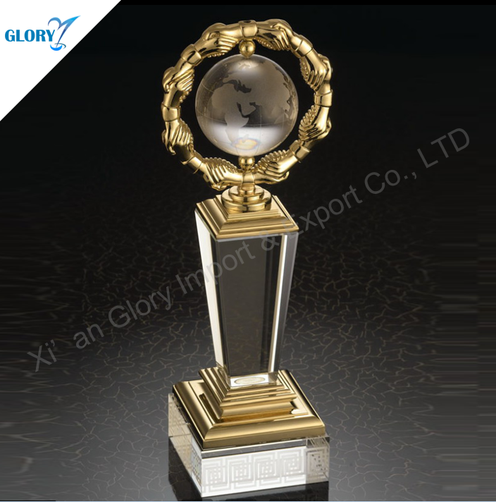 Crystal Corporate Trophy Award Gift Company Business Gift Ideas