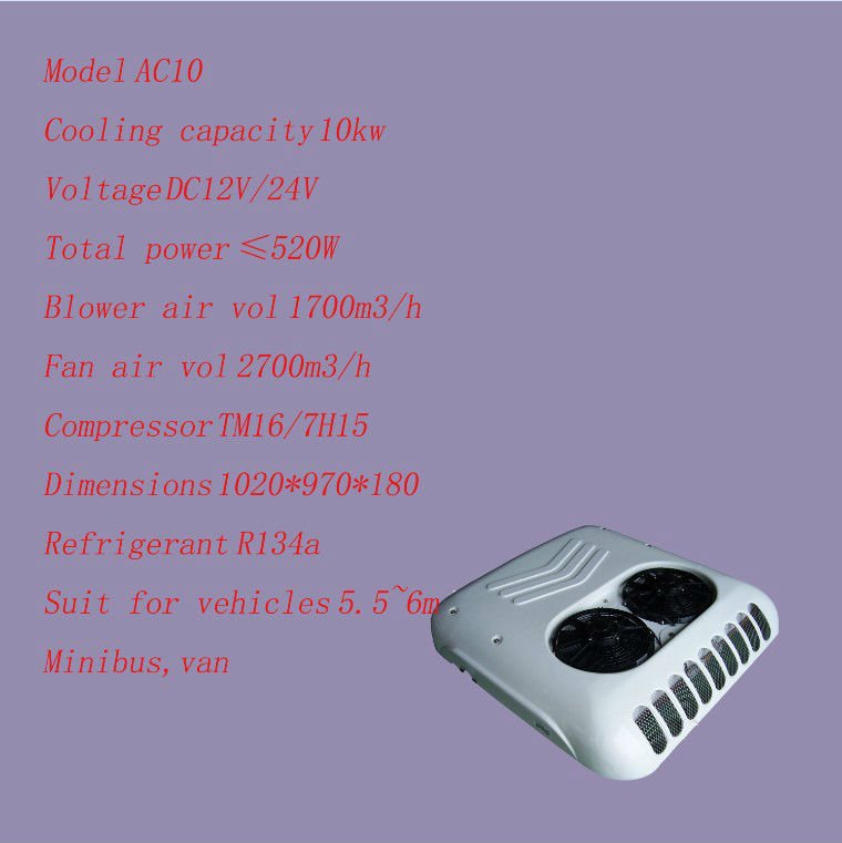 AC10 hot sale 10kw van air conditioning system