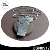 Vermont State charm silver plating fancy necklace sets