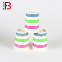 Beautiful purple green blue striped image paper cup two PE 8oz paper cup