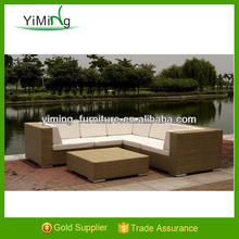 Bella Garden black corner sofa big set /Sectional Sofa Rattan Outdoor Furniture