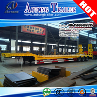Africa hot sale 3 axles low bed semi trailer 60 tons for Ethiopia