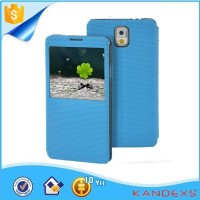 2015Hot selling blue flip Protect shell case for Samsung phone