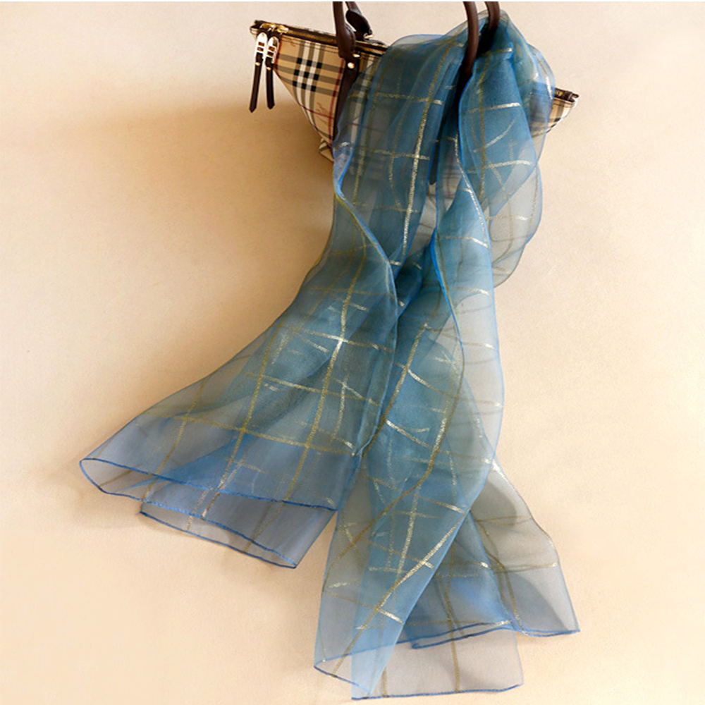 Popular Long Lurex Silk Scarves Manufacturers