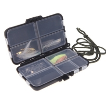 Promotion!! New Fishing Tackle Box Fly Fishing Box Spinner Bait Minnow Popper 9 Compartments Fishing Accessories
