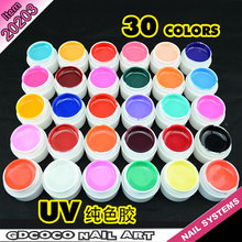 20203x China CANNI Factory Wholesale GDCOCO 30 Pure Colors Nail UV Gel System Paint UV Gel