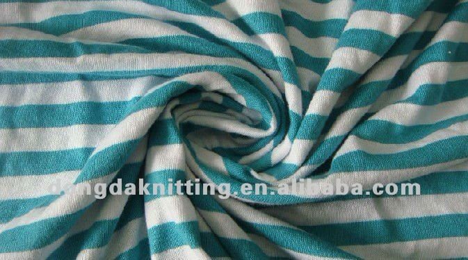 21S 100% cotton yarn dyed single jersey knitted fabric