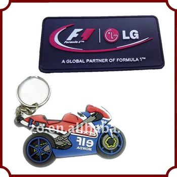 motorcycle usage 3d soft pvc keyring S-035