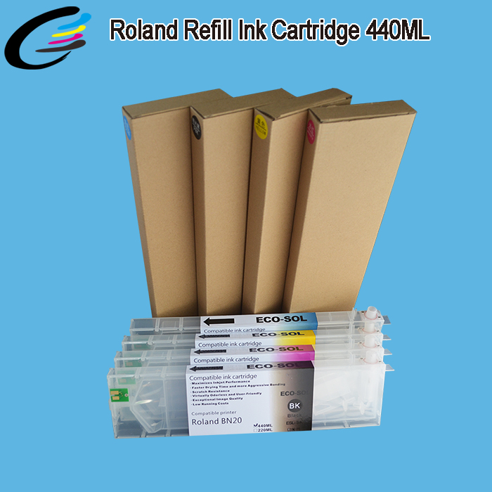 Factory Direct Wholesale Roland Eco Solvent Ink Cartridge 440ML VersaStudio BN-20