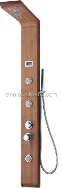 bathing bamboo body with painting processing shower panel LN-B105