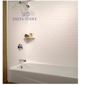 Hot Sale Staggered Block Pattern China Culture Marble Shower Panel