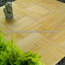 Teakwood honed sandstone paving stone