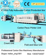 China Made Flexo Printer Slotter Die-cutter Inline Folder Gluer & Counter Ejector Case Maker