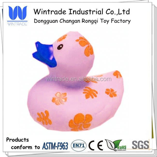 Printed 10cm duck flower logo duck for gift
