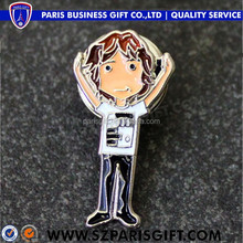 wholesale Custom metal gold men's suit kids carton lapel pins for sale