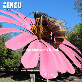 Garden Decoration Flower Sets Animated Insect Model