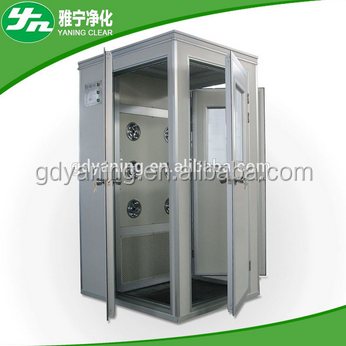 two-stage filtration / adjustable nozzle/high wind speed Air Shower Clean Room