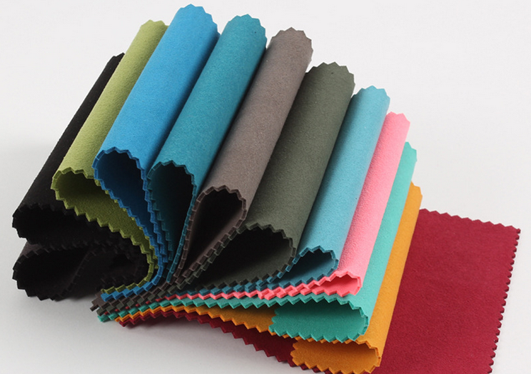 Nonwoven microfiber suede <strong>leather</strong> 0.6mm~2.0mm with all colors can be customized