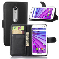 Leather wallet case for Moto X play pouch / strong defend for Moto X play kickstand case