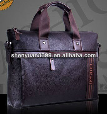 Korean Fashion Style Men's Fossil leather Handbag