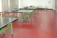 High quality portable anti-skiiding professinal pvc sports flooring for table tennis court