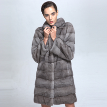 Luxury Fur Garment High Quality 100% Real Mink Fur Winter Coat for Women