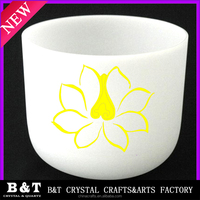 "2015 Newest design ""OM"" Quartz Crystal Handmade Frosted bowls singing BNTS-113"