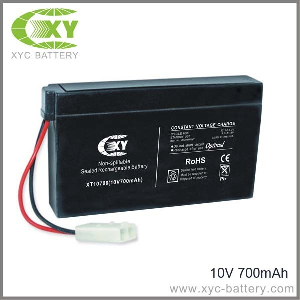 10V 700mAh Rechargeable Batteries for toy