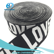 customed woven jacquard logo elastic waistband using for underwear