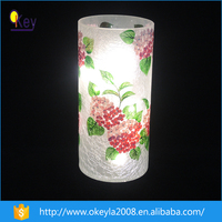 2016 home goods decorative led flower vase light with painting designs