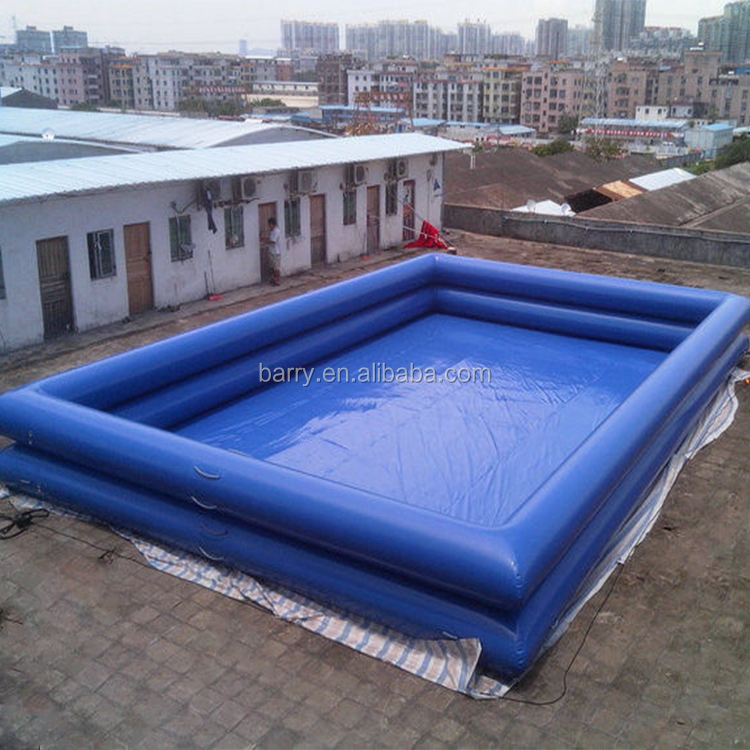 China manufacture big PVC mobile deep inflatable adult swimming pool