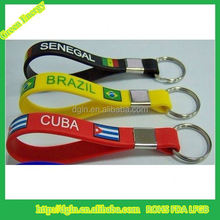 Promotional Silicone Keychain Glow In The Dark