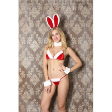 Women cheap sexy rabbit christmas lingerie for christmas party