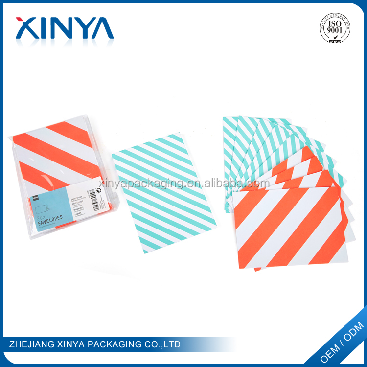 XINYA Wholesale Custom Design Fancy Cheap Mini Gift Paper Envelope For Gift Cards