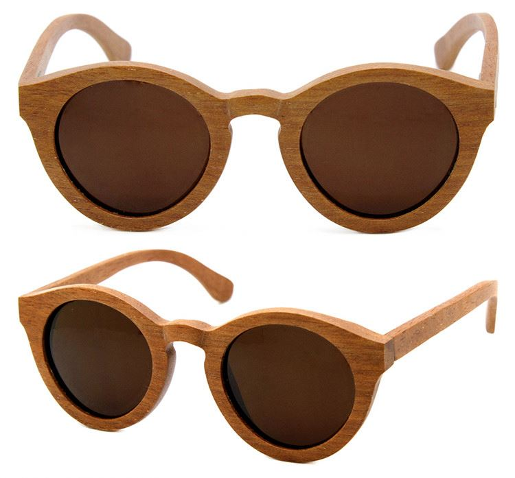 Factory supply classic style handmade polarized wood sunglasses