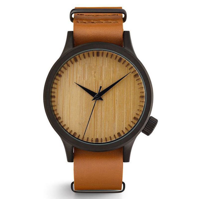 Hot selling Travel Gift Leather Wacth Wooden Watch
