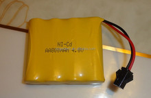 NI-CD AA 800mah 4.8V Rechargeable Battery Pack